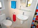 villa sofia ayia napa downstairs bathroom and walk in shower