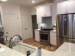 kitchen with view to half bath