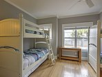 The bunk room is perfect for kids!