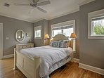 Look forward to many great nights of sleep in this queen-sized bed.