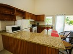Fully equipped kitchen with gas stove, and also out door BBQ.