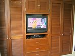 32' LCD TV and DVD player in the bedroom.