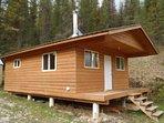 Log cabin in the woods, Bull River lodge, Honeymoon cabin