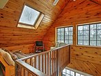 The loft features a full-sized futon to accommodate 2 guests.