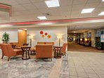 Main lobby area, ATM and business center available for use.