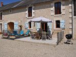 Villa Chene overview with terrace at Luxury Loire Gites in the Loire Valley