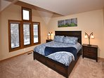 2nd floor Master bedroom with river views-includes king bed, ensuite bathroom, and TV/DVD