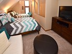 3rd floor Loft with river views-includes 2 full beds, sitting area with queen futon, and TV/DVD