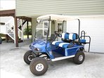 Beautiful golf cart for your travels back and forth to the beach!
