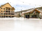 You'll love the outdoor skating rink