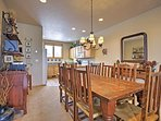 This large dining table is perfect for family meals!