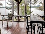 Look forward to spending your downtime on the lovely screened porch.