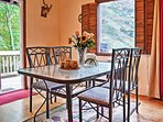 Enjoy family meals at this lovely dining table.