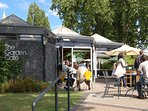 The Garden Cafe - go for coffee or lunch by the Rose Garden in Regents Park.