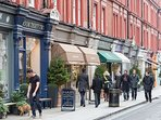 The boutique shopping and cafes/restaurants of Marylebone