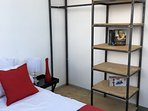 Bedroom 2: Trendy convenient clothing rail