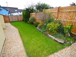 Garden - sunny and private garden, with patio furniture & BBQ.  Storage and parking for up to 3 cars