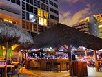 Tiki Bar Sitting On The Beach. Come Downstairs Day Or Night For The Beverage Of Your Choice