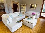 Living room with door to the terrace