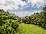 Beautiful gardens and Cedar of Lebanon trees