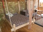 Lovely swing bed to relax and unwind....