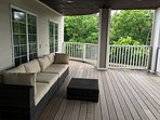 Deck Furniture to enjoy the outdoors view to Fresh Pond Park