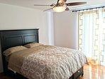 1st Bedroom Queen Size Bed with Posturepedic mattress