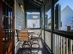 Reer Balcony overlooking Courtyard & Pool