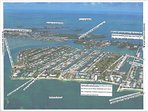Topical view of Key Colony Beach (with labels) btm.:  Atlantic Ocean, Inch Beach & our rental