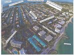Topical view of southeast side of KCB, with label showing our rental down canal to both Oceans!!!