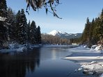 The Wenatchee River in winter.