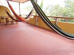 Balcony - seating area and hammocks