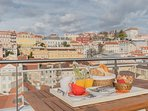 Rooftop terrace overlooking the old city