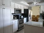 Well equipped Kitchen with New Cambria Quartz Countertops, New Cabinets and Appliances