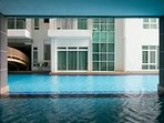 Laze around the pool at Level 7