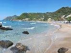 Pelekas beach 4 km from house