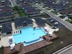 Aerial view of Richmond Development pool