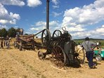 Farming attractions at the local summer fête in nearby St Etienne sur Usson