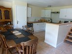 Beech Cottage open plan kitchen and dining area