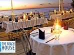 Romantic dining overlooking the sea  5 mins away