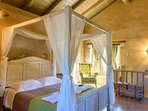The villa has two airy bedrooms