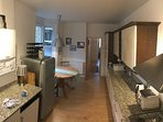 Kitchen; washer/ dryer, dishwasher, large table for 6, seating area, plenty of cupboard space, SONOS