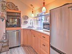 The kitchen is fully equipped with an induction cooktop, an LG SS dishwasher, SS refrigerator, a new microwave and a...