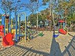 Your kids will love monkeying around on the playground equipment.