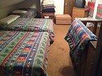Up stairs bunk room.  Sleeps 6