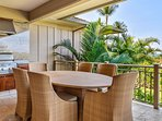 Elegant lanai dining set for six and built-in barbecue grill. Eat al fresco while gazing out over stunning resort...