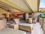 Wide view of lanai. Floor-to-ceiling pocket doors open fully to the great room.