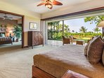 Bonus 'retreat' room that connects to master suite with pocket privacy doors. Wet bar, TV, and private lanai.