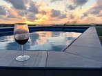 Breathtaking sunset view from the roof top pool