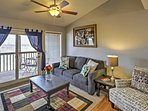 Relax on the comfy couches in the living area during your downtime.